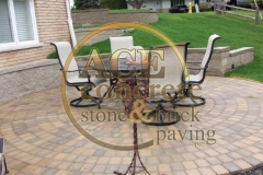 Brick paver patio (2) w