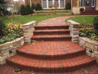 brick paved steps